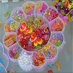 große Pflaume transparentem Kristall DIY der Kinder Perlen Spielzeug Farbe Acryl Stricken Perlen Bildungs Wulst