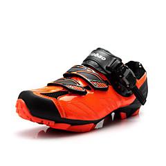 billige Sykkelsko-Tiebao® Mountain Bike-sko Nylon Vanntett, Anti-Skli, Demping Sykling Svart / Oransje / Rød Herre