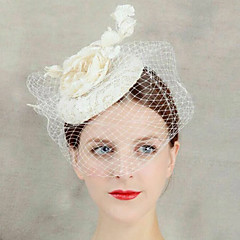 cheap Women's Jewelry-Women's Lace Flower Veil Forehead Hair Fascinator Hat Jewelry for Wedding Party