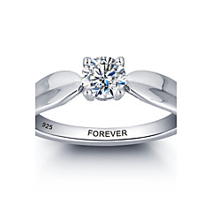 cheap Rings-Personalized Promise 925 Sterling Silver CZ Stone Wedding Party Ring For Women