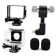 glatte Rahmen 保護ケース マイク ミニスタイル 多機能 便利 防塵 ために アクションカメラ Gopro 4 Gopro 3 Gopro 3+ ユニバーサル 映画や音楽 メタル