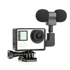 Smooth Frame Standard Frame 3.5mm Microphone Mini Style USB Dust Proof For Action Camera Gopro 5 Gopro 4 Gopro 4 Black Gopro 3 Gopro 3+