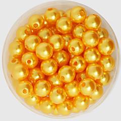 baratos Miçangas & Fabricação de Bijuterias-Jóias DIY 200 Contas Acrílico Plástico ABS Rosa claro Dourado Verde Claro Arco-Íris Ivory Redonda Forma redonda Bead 1 faça você mesmo