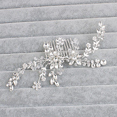 Crystal Hair Combs Headpiece Wedding Party Elegant Feminine Style