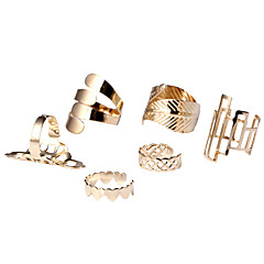 Women's Jewelry Set Statement Rings Cuff Ring Heart Fashion Simple Style Costume Jewelry Alloy Heart Leaf Jewelry For Party Daily Casual