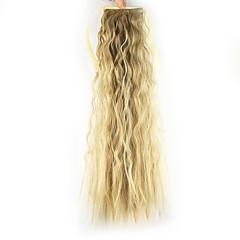 voordelige Haar Stukken-Paardenstaart Synthetisch haar Haar stuk Haarextensies Diepe Golf