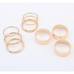 指輪 女性用 / 男性用 / 男女兼用 ストーン無し 合金 合金 9 / 10 ゴールド / 銀