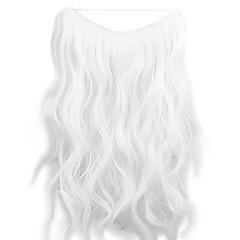 preiswerte Synthetische Haarverlängerungen-Klassisch Wellen Flip In Haarverlängerungen Gute Qualität Weiß