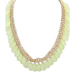 女性 チョーカー 樹脂 合金 ドロップ ファッション ホワイト ブルー ライトグリーン ジュエリー パーティー 日常 カジュアル 1個