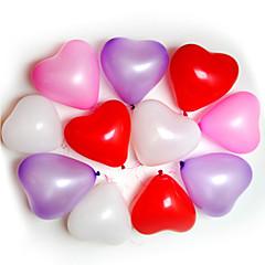 100kpl sydämen muoto Ilmapallot Tilaisuudet Häät synttäreille koristelu Supplies Ballon Party Decora
