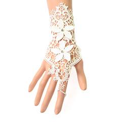billige Festhandsker-Blonde Håndledslængde Handske Brudehandsker Fest-/aftenhandsker With Broderi Blomster