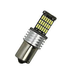 2x hvite 1156 G18 BA15s 45 4014 førte blinklys bak lyspære d068 12-24V