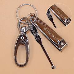 Stainless Steel Keychain Favors-1 Piece/Set Keychains Classic Theme Personalized Silver / Nail scissors