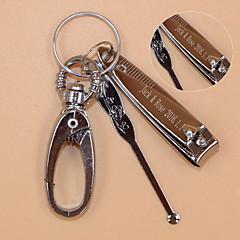 Rozsamentes acél Kulcstartó kedvezmények-1 Darab / Set Kulcstartók Klasszikus téma Személyre szabott Ezüst