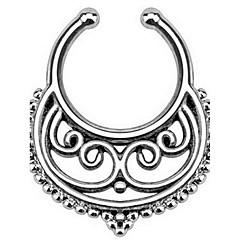 billige Kropssmykker-Neseringer & Dobber / Nose Piercing Rustfritt Stål Bohemia stil Gylden / Sølv Smykker,1set