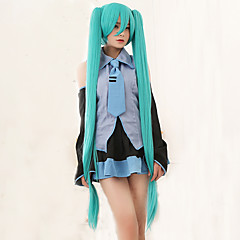 cheap Wigs & Hair Pieces-high quality vocaloid hatsune miku 2 ponytails cosplay wig Halloween