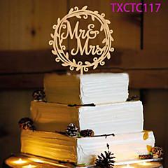 Taarttoppers Niet-persoonlijk Monogram hars Bruiloft Geel Vlinder Thema 1 OPP