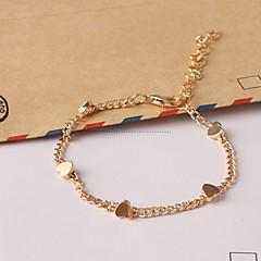 billiga -Dam Stjärna Hjärta Kedje & Länk Armband Berlock Armband - Kärlek Inspirerande Mode Stjärna Hjärta LOVE Guld Armband Till Julklappar Party