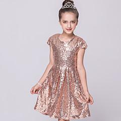 tanie Odzież dla dziewczynek-Brzdąc Dla dziewczynek Jendolity kolor Krótki rękaw Sukienka