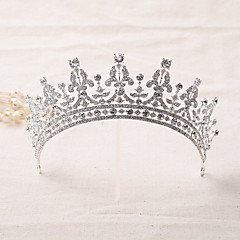 cheap Party Headpieces-Rhinestone Alloy Tiaras Headbands Headwear with Floral 1pc Wedding Special Occasion Headpiece