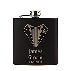 cheap Bride Gifts-Personalized Stainless Steel Barware & Flasks Hip Flasks Groom Groomsman Couple Parents Wedding Birthday Valentine