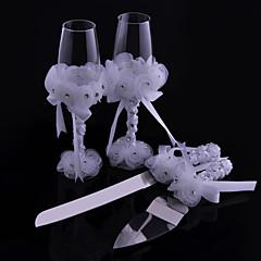 Blyfrit Glas Ristning Flutes 4Pieces Ikke-personaliseret Gaveæske