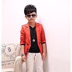 tanie Odzież dla chłopców-Dla chłopców Codzienny Solidne kolory Długi rękaw Bawełna Garnitur / marynarka Czarny 150
