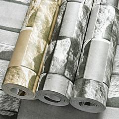 billige Tapet-3D Hjem Dekor Moderne Tapetsering, Pvc / Vinyl Materiale selvklebende nødvendig bakgrunns, Tapet
