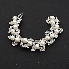 cheap Bracelets-Women's Chain Bracelet Alloy Rhinestone