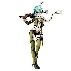 נתוני פעילות אנימה קיבל השראה מ Sword Art Online Shino 24 CM צעצועי דגם בובת צעצוע