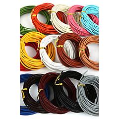 beadia 5 MTS 2mm pyöreä nahkanyörillä& johdin& string (15 väriä)
