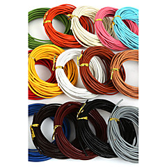 beadia 5 MTS 2 χιλιοστά γύρο δερμάτινο κορδόνι& σύρμα& κορδόνι (15 χρώματα)