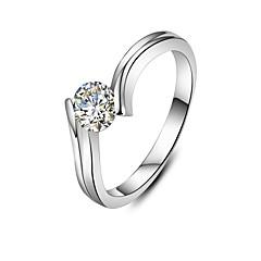 Ringer Mote Bryllup Smykker Dame Statement Ringe 1 stk,5 / 6 / 7 / 8 / 9 / 8½ / 9½ / 4 Sølv
