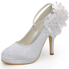 お買い得  ウェディングシューズ-女性用 靴 シルク 春 夏 スティレットヒール フラワー のために 結婚式 ドレスシューズ パーティー ホワイト ベージュ レッド