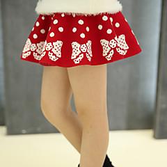 baratos Roupas de Meninas-Menina de Vestido Diário Inverno Primavera Outono Lã Preto Vermelho