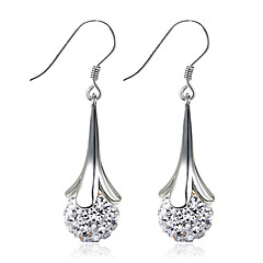 Modny Kamienie zodiakalne Srebro standardowe Circle Shape Silver Biżuteria Na Ślub Impreza Codzienny Casual Sport 1szt 1 para