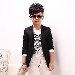economico Abbigliamento per bambini-Da ragazzo Fantastico Quotidiano Tinta unita Manica lunga Cotone Completo e giacca Nero
