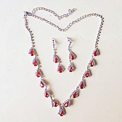 levne Sady šperků-Dámské Náhrdelník / náušnice Roztomilý Party Svatební Párty Postříbřené Küpeler Náhrdelníky