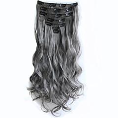 preiswerte Synthetische Haarverlängerungen-Mit Clip Synthetik Haarverlängerungen 130 Haar-Verlängerung