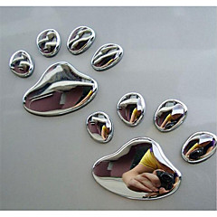 PVC The Dog Paws Footprints In Car Scratch Paste Reflective Personality