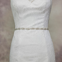 Satin Wedding Party/ Evening Dailywear Sash With Rhinestone Beading Sequins