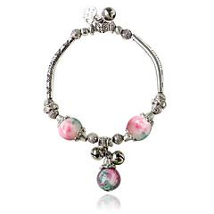 cheap Bracelets-Charm Bracelets 1pc,Black / White / Blue / Green / Pink Bracelet Bohemia Style Round  Alloy / Zircon Jewellery