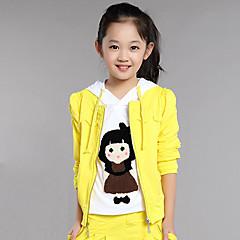 tanie Odzież dla dziewczynek-Dzieci Dla dziewczynek Kreskówki Codzienny Patchwork Długi rękaw Regularny Regularny Bawełna Komplet odzieży Szary
