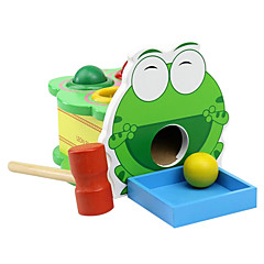 děti klepat dřevěné puzzle hračka shrewmouse takt