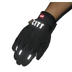 完全な指のタッチ手袋に乗って、反射、非毒性、無臭すべりにくい通気性防水