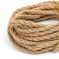 beadia 6mm naturlig hamp jute ledningen for DIY smykker håndverket å gjøre (5mts)