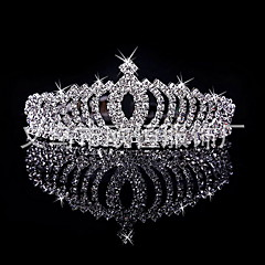 cheap Hair Jewelry-Women's Girls' Bridal Wedding Silver Plated Alloy Crown