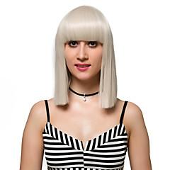 tanie Peruki syntetyczne-Peruki syntetyczne Damskie Blond Włosie synetyczne Blond Peruka Krótkie Bez czepka Beżowy