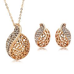 baratos Conjuntos de Bijuteria-Mulheres Conjunto de jóias - Imitações de Diamante Caído Fashion Incluir Dourado / Prata Para Diário / Formal / Brincos