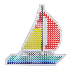1buc șablon model clar margele Perler barca de panouri perforate de navigatie pentru margele 5mm HAMA fuzioneze margele